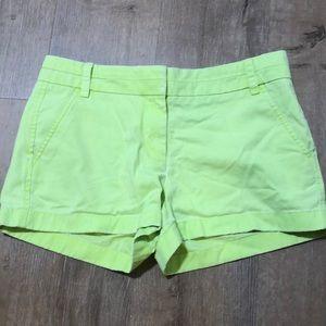 J.crew bright yellow/green cotton shorts